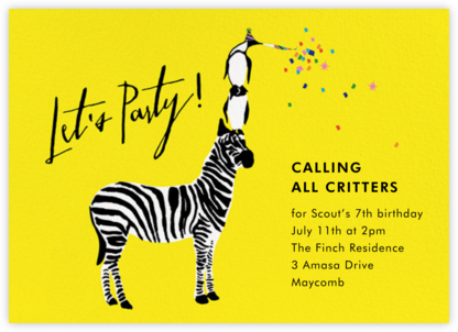 Wildlife of the Party - Cheree Berry - Online Kids' Birthday Invitations
