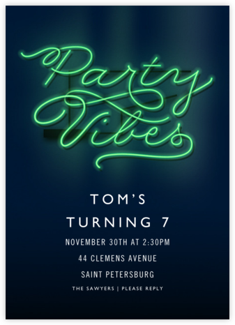Party Vibes - Cheree Berry - Birthday invitations