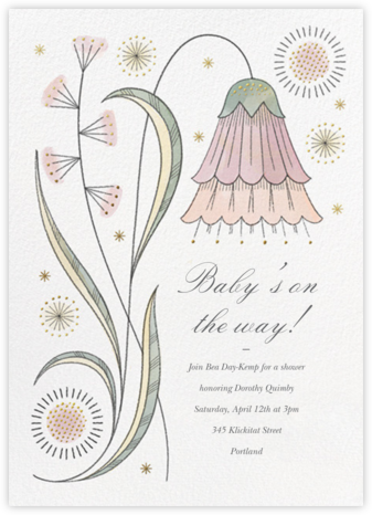 May Belle - Tea Rose - Paperless Post - Baby Shower Invitations