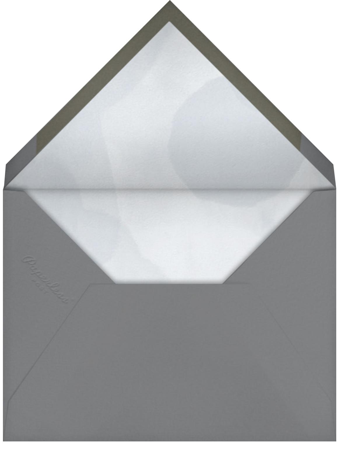 May Belle - Gray Green - Paperless Post - Baby shower - envelope back