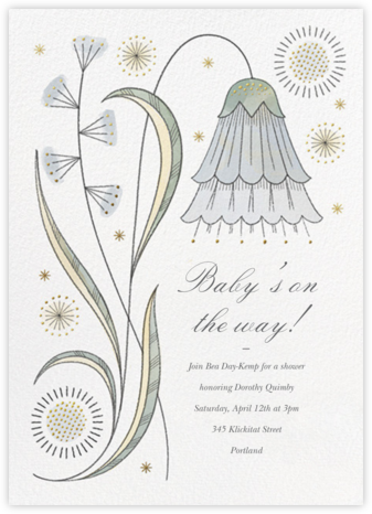 May Belle - Gray Green - Paperless Post - Baby Shower Invitations