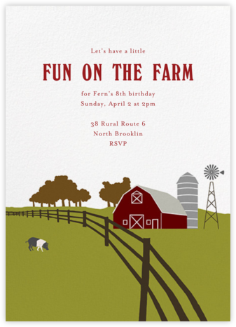 Barn  - Paperless Post - Kids' birthday invitations