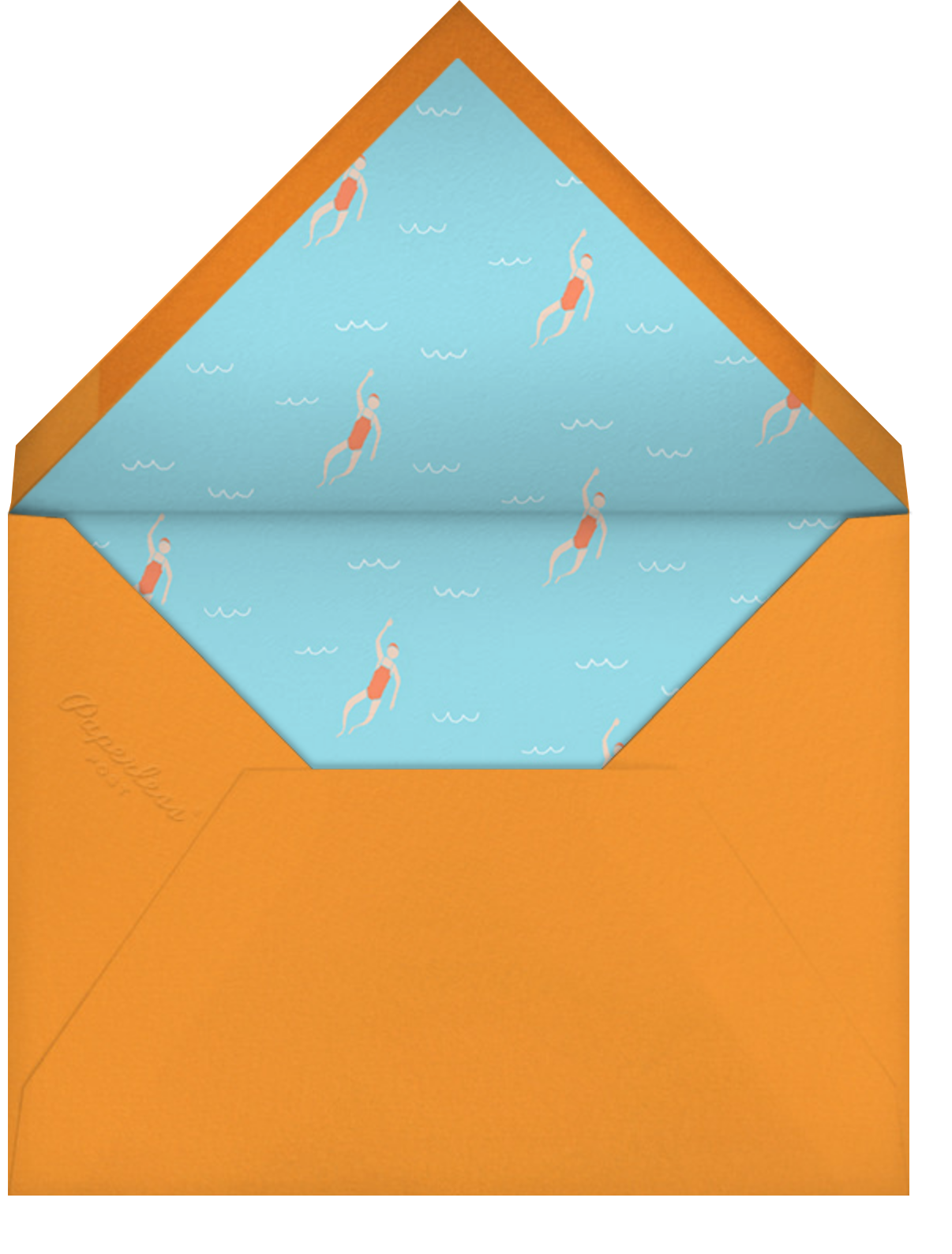 Maude's Pool - Paperless Post - Kids' birthday - envelope back
