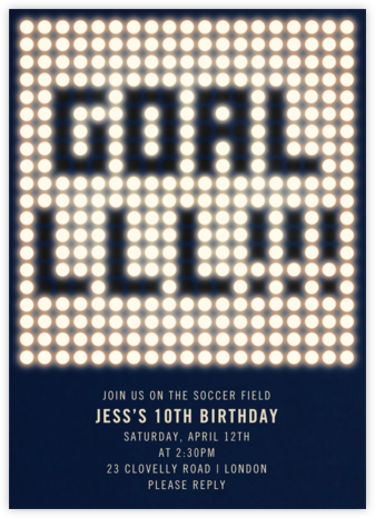 GOALLLL!!!  - Paperless Post - Kids' birthday invitations