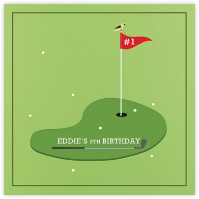 Golf Ace - Paperless Post - Kids' birthday invitations