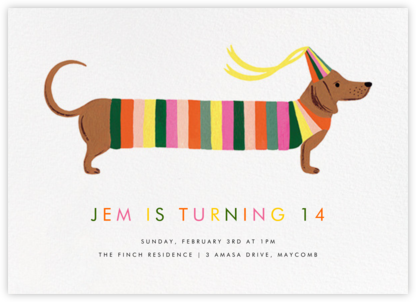 Party Pup - Rifle Paper Co. - Birthday invitations