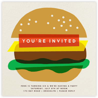 Burger Beer - The Indigo Bunting - Kids' birthday invitations
