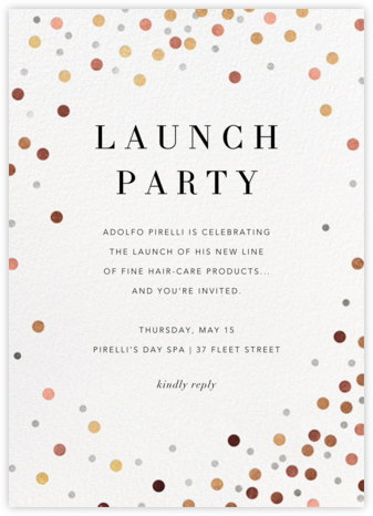 Coriandoli - Paperless Post - Launch Party Invitations