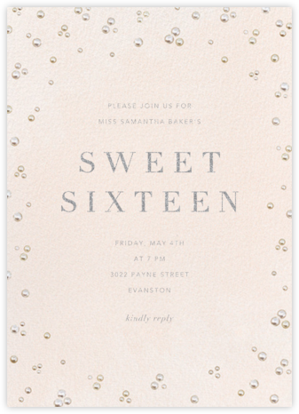 Akoya - Paperless Post - Sweet 16 invitations