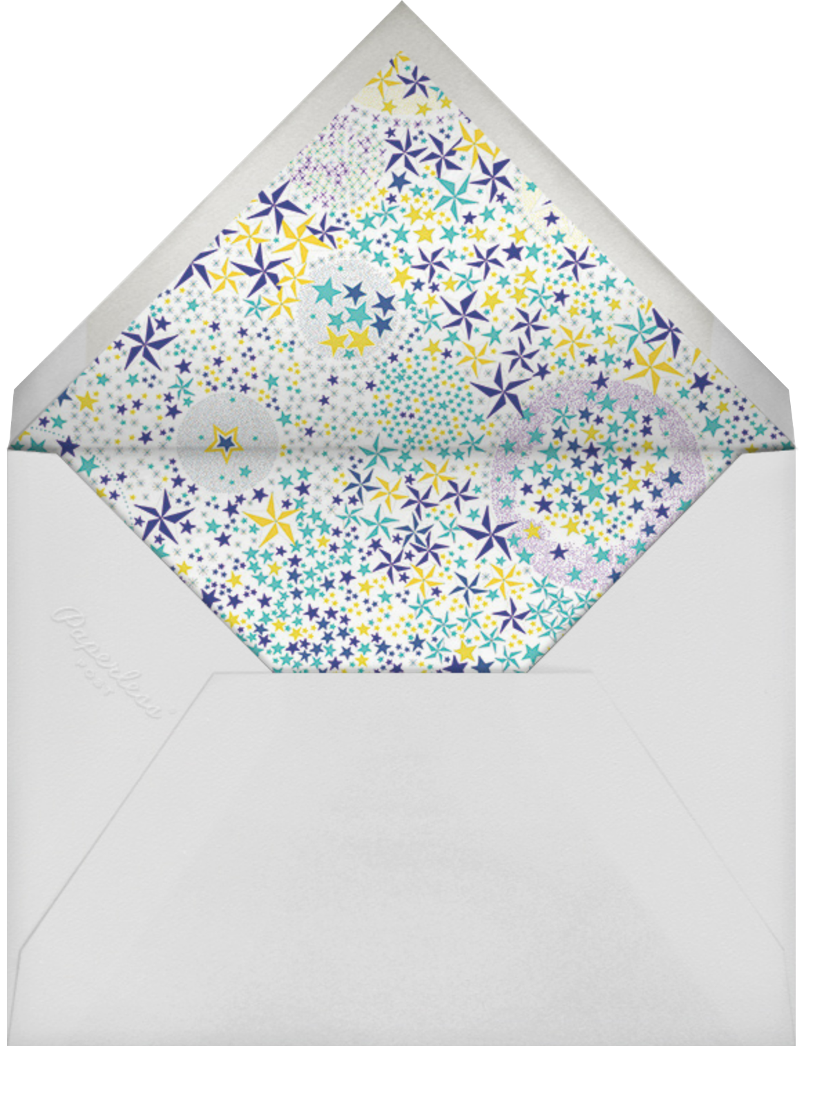 Adelajda - Blue - Liberty - Ramadan and Eid - envelope back