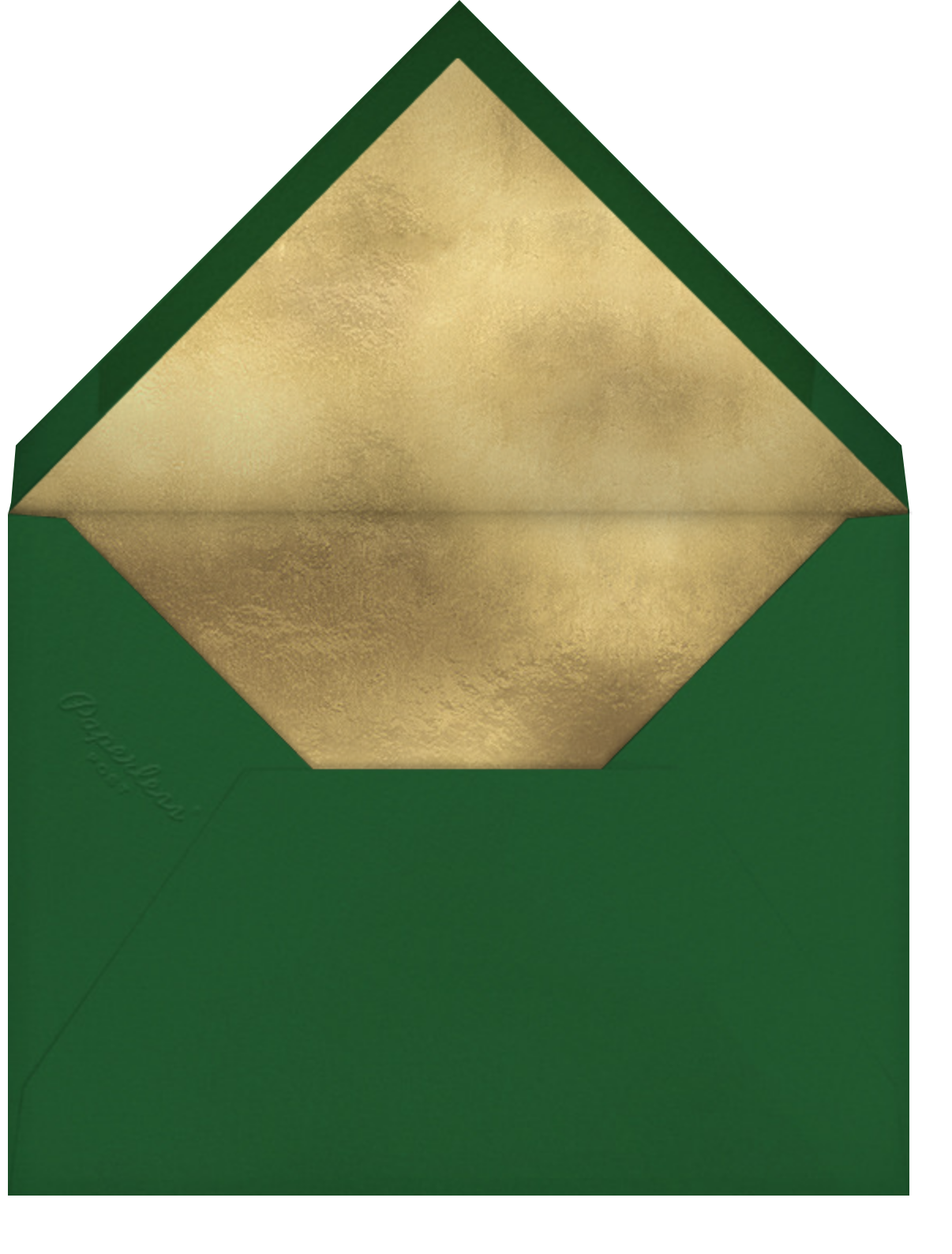 Octagons - Green/Gold - Paperless Post - Ramadan and Eid - envelope back