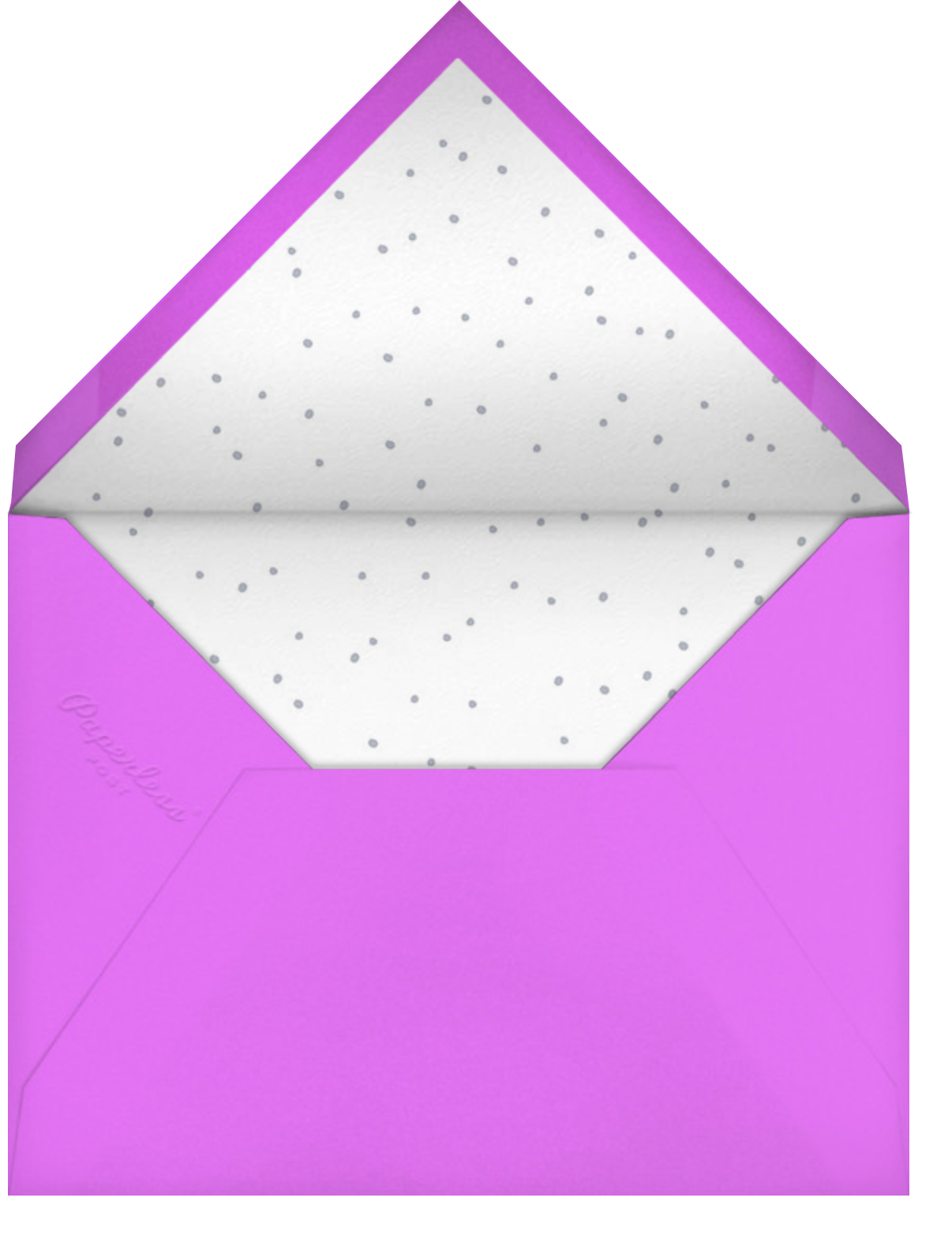 Blowout (Invitation) - Hello!Lucky - Adult birthday - envelope back
