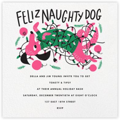 Feliz Naughty Dog (Invitation) - Hello!Lucky - Hello!Lucky Cards