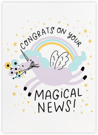 Magical News - Hello!Lucky - Unicorn invitations
