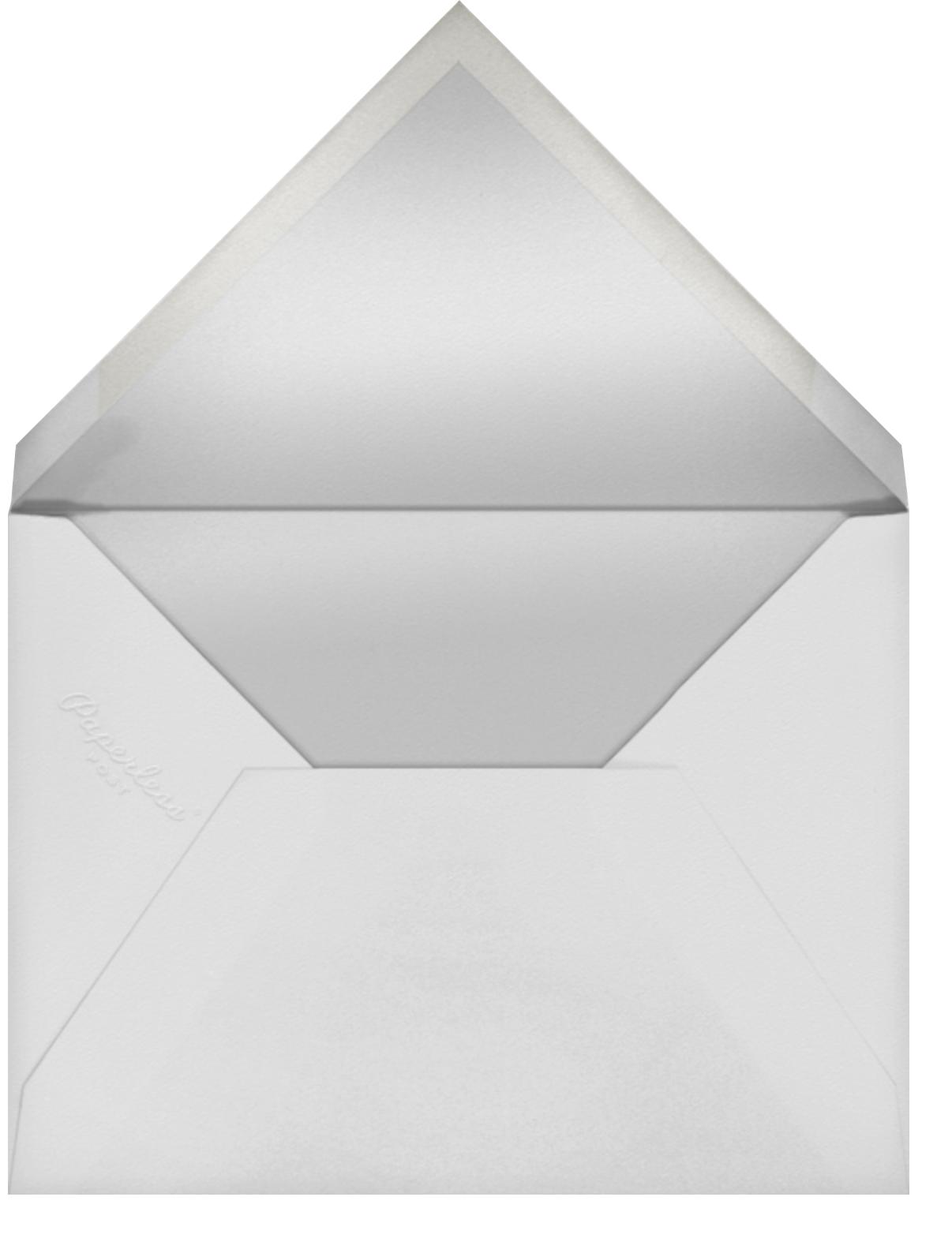 Josephine Baker (Menu) - Black/Rose Gold - Paperless Post - Menus - envelope back
