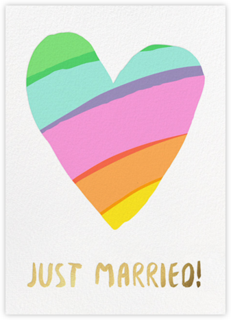 Rainbow Heart - Hello!Lucky - Wedding Congratulations Cards