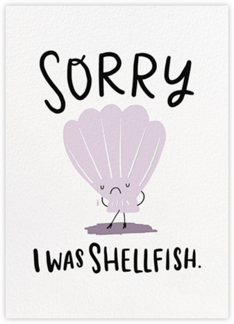 I Really Clam Sorry  - Hello!Lucky - Apology cards