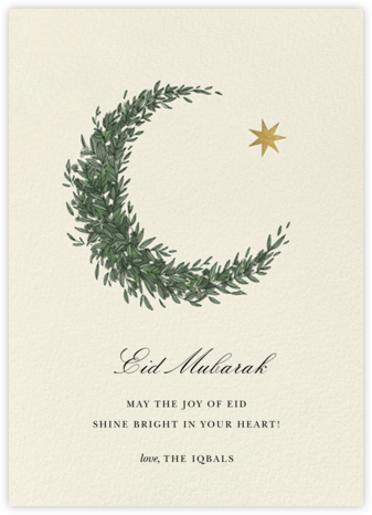 Lunar Wreath (Greeting) - Paperless Post - Online Cards