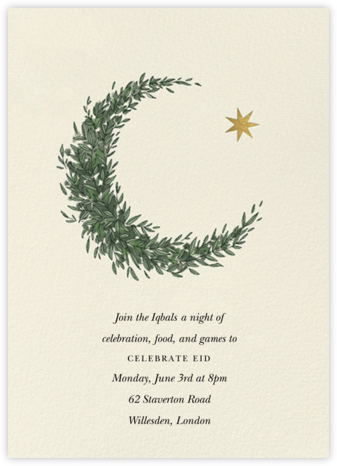 Lunar Wreath (Invitation) - Paperless Post - Online Party Invitations