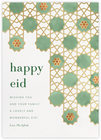 Happy Eid (Greeting) - Paperless Post -