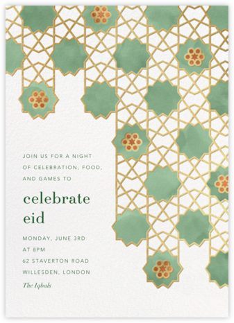 Happy Eid (Invitation) - Paperless Post - Online Party Invitations