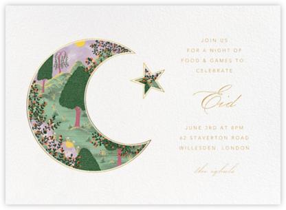 Eid Sunset (Invitation) - White   horizontal