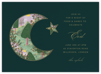 Eid Sunset (Invitation) - Spruce - Paperless Post - Ramadan and Eid invitations