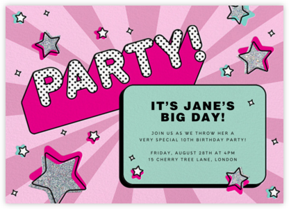 Star Power - Paperless Post - Birthday invitations