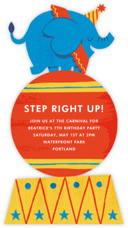Step Right Up - Paperless Post - Online Kids' Birthday Invitations