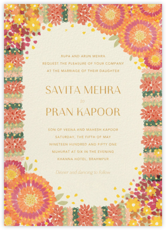 Aripan (Invitation) - Paperless Post - Indian Wedding Cards
