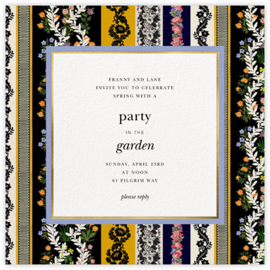 Jacquard Stripe - Oscar de la Renta - Invitations for Parties and Entertaining