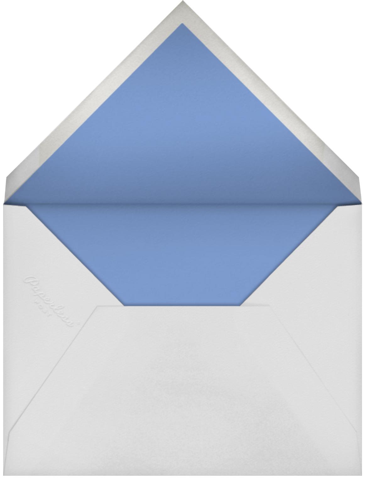 Jacquard Stripe - Oscar de la Renta - Bridal shower - envelope back