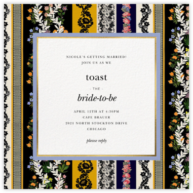 Jacquard Stripe - Oscar de la Renta - Bridal shower invitations