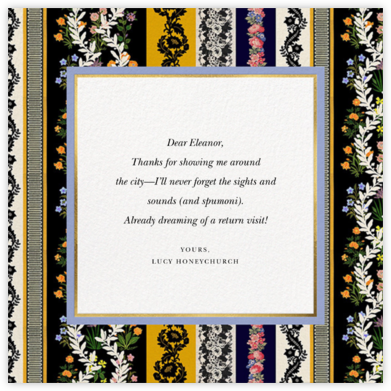 Jacquard Stripe - Oscar de la Renta - Online Thank You Cards
