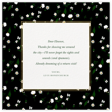 Tossed Daisies - Oscar de la Renta - Online Thank You Cards