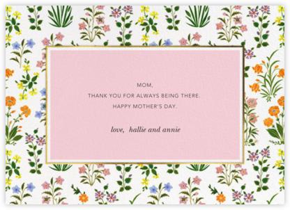 Wildflower Calico - White/Blossom - Oscar de la Renta - Mother's Day Cards