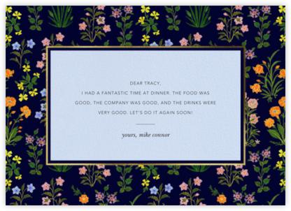 Wildflower Calico - Navy/Tundra - Oscar de la Renta - Online Thank You Cards