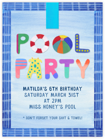 Pool Party - Paperless Post -