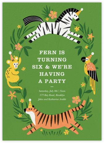 Jungle Fun - Paperless Post - Online Kids' Birthday Invitations