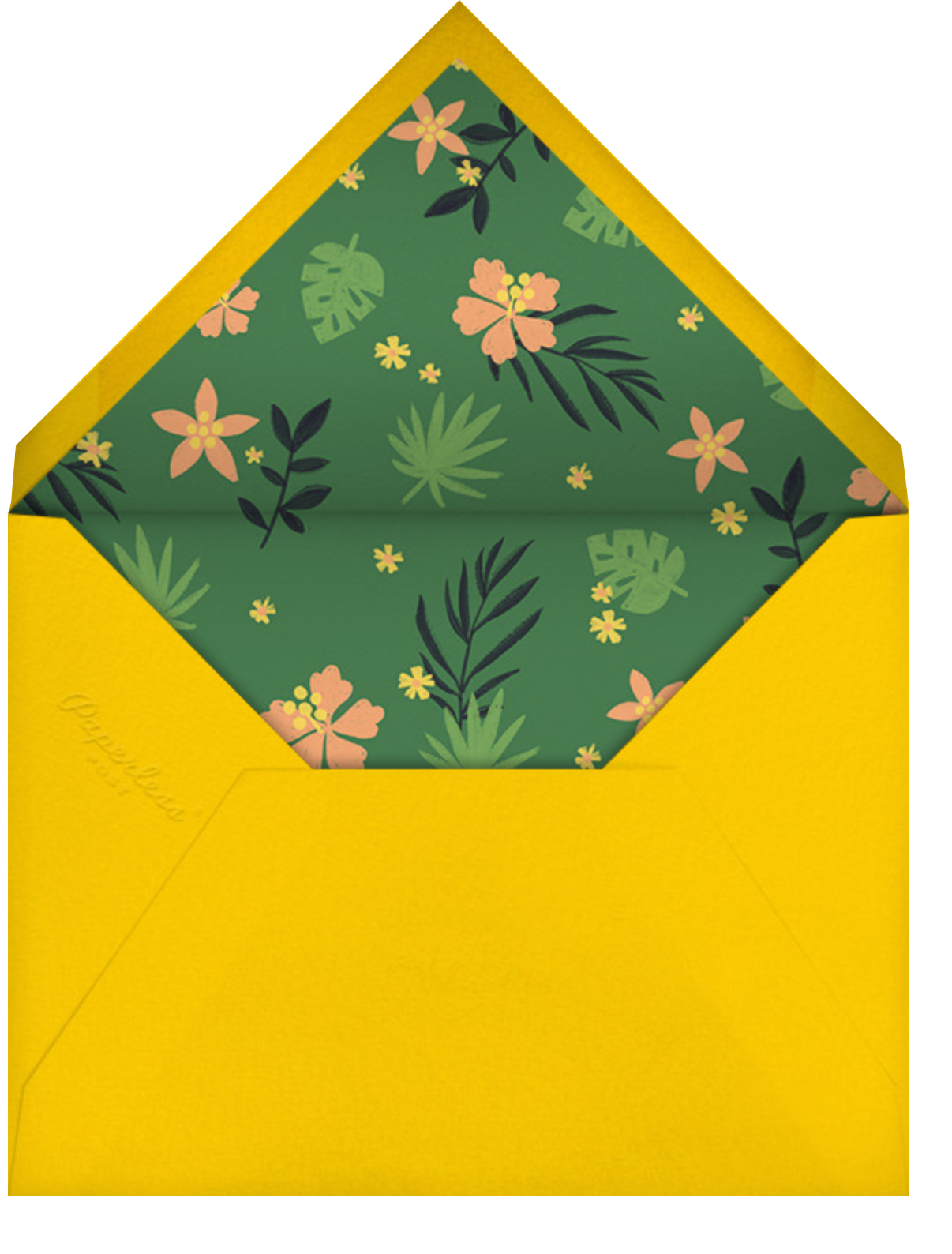 Jungle Fun - Paperless Post - Kids' birthday - envelope back