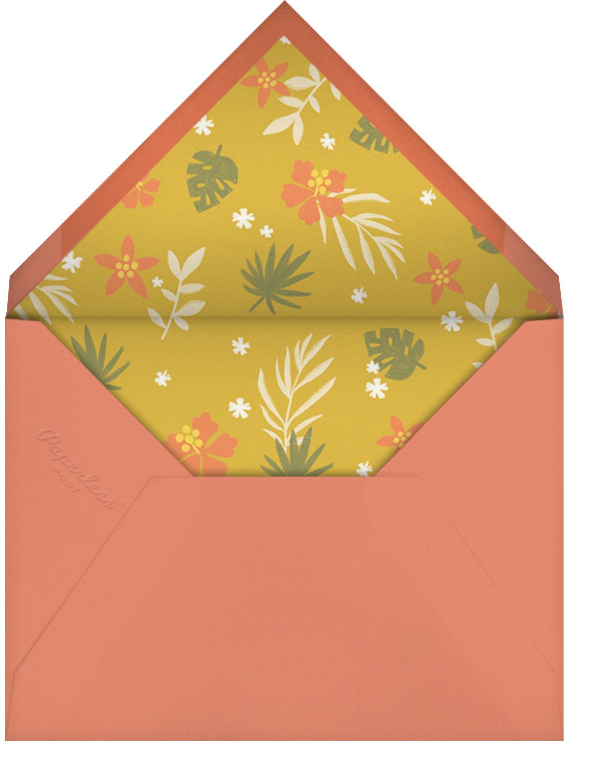 Jungle Shower - Paperless Post - Baby shower - envelope back