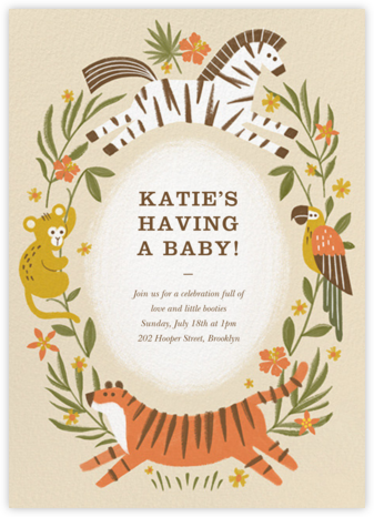 Jungle Shower - Paperless Post - Baby Shower Invitations