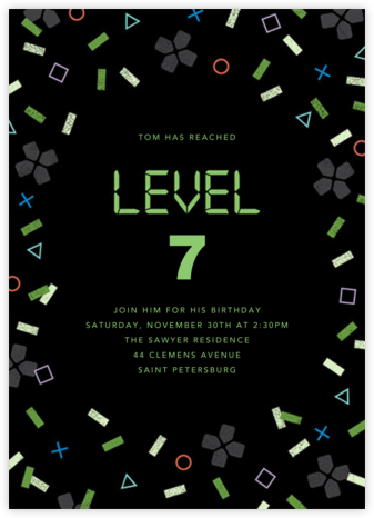 Next Level - Paperless Post - Birthday invitations