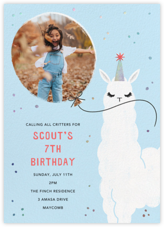 Llamacorn - Paperless Post - Online Kids' Birthday Invitations