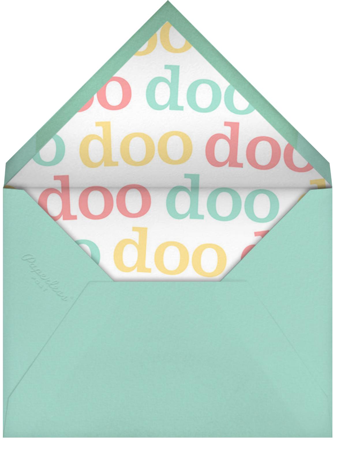 Shark Your Calendar - Paperless Post - Baby shower - envelope back