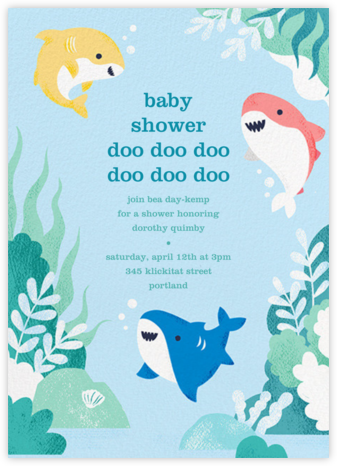 Shark Your Calendar - Paperless Post - Baby shower invitations