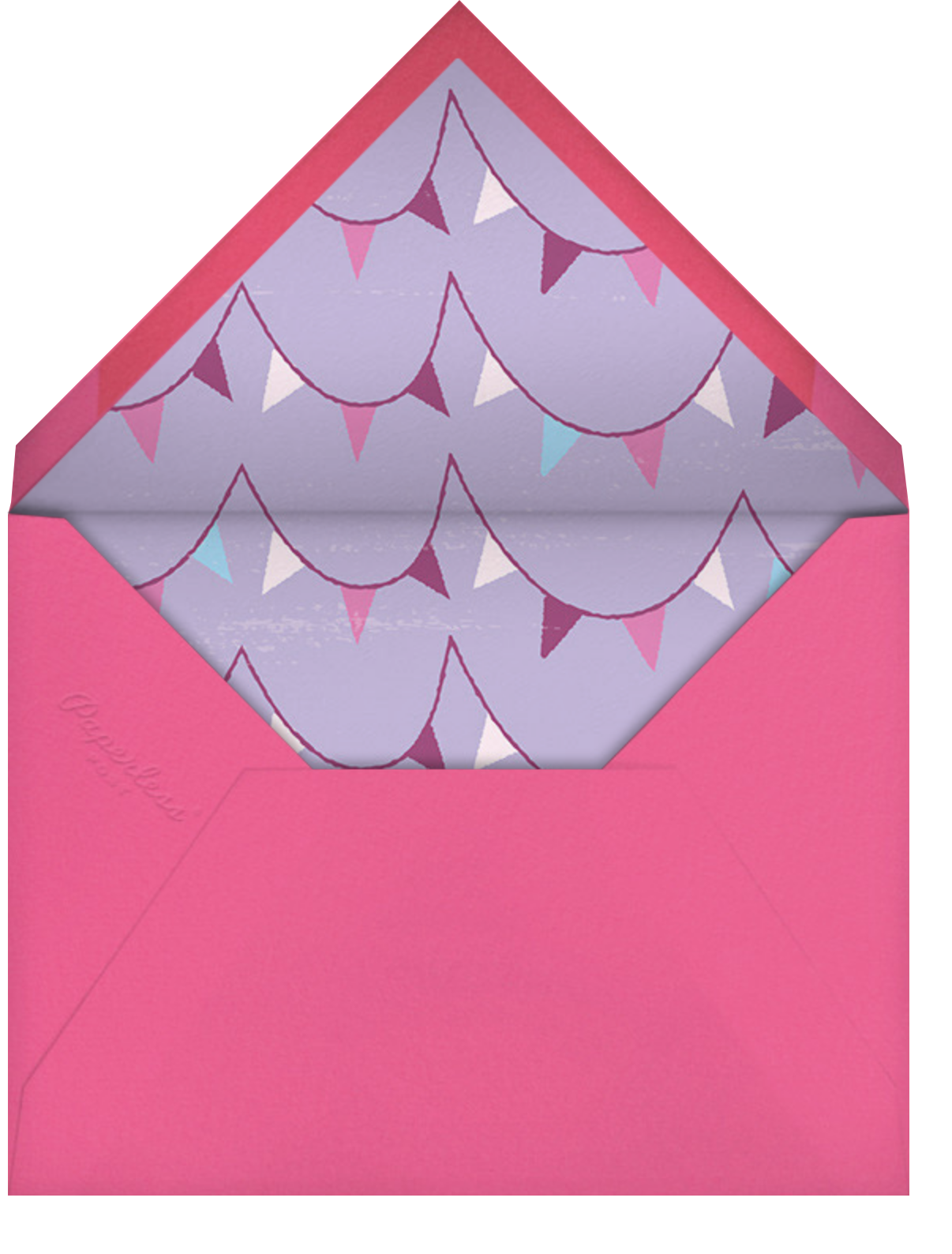 Sleepover Camp - Lavender - Paperless Post - Kids' birthday - envelope back