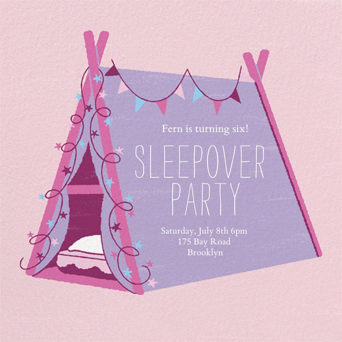 Sleepover Camp - Lavender - Paperless Post -
