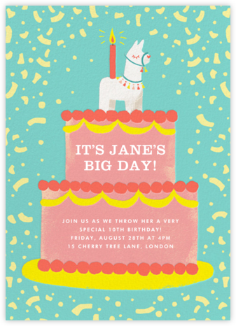Llama Topper - Paperless Post - Kids' birthday invitations