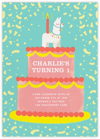 Llama Topper - Paperless Post - First Birthday Invitations